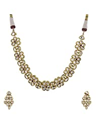 Ashapura Gold Plated Necklace With Studs For Women - N0199