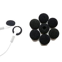 5 Black Pairs = 10 pieces sponge -- 18mm size Soft Sponge Foam Headphones Earphone Cover for All Type of Earphones