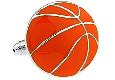 Basketball Cufflinks with a Presentation Gift Box