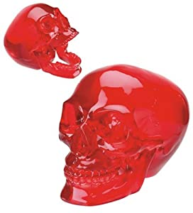 "Crystal Skulls - Red Skull - Cold Cast Resin - 4.75"" Height"