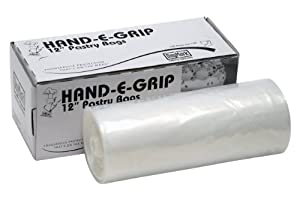 """DayMark 115435 12"""" Hand-E-Grip Disposable Pastry Bag with Dispenser (Roll of 100)"""