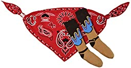 Stephan Baby Wild West Collection Bandana Style Bib and Cowboy Boot Socks Set, 12-18 Months