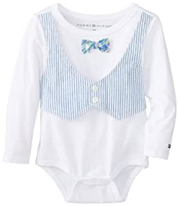 Tommy Hilfiger Baby-Boys Infant Jaycee Bodysuit with Bow by Tommy Hilfiger