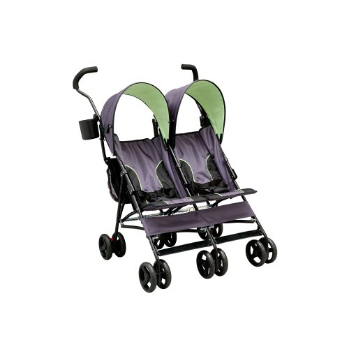 Best Price Delta Children LX Side by Side Tandem Umbrella Stroller, Lime Green