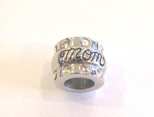 HEIRLOOM MOM Bead with clear cz stones fits Pandora by Island Imports And More