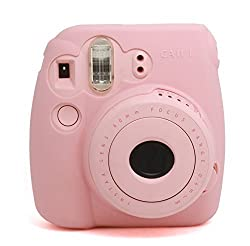 CAIUL Fashion Camera Case For Fujinfilm Instax Mini 8, Silica Gel Material, Pink