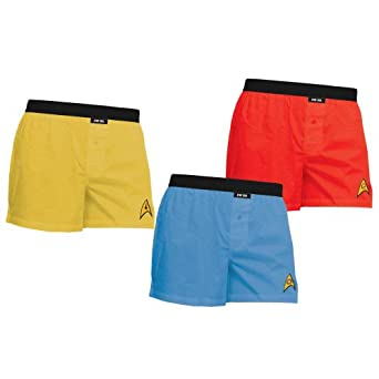 Star Trek Adult Uniform Boxer Briefs 3-Pack M