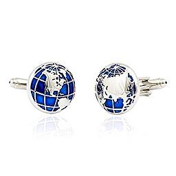 Blue Globe Cufflinks by Cuff-Daddy