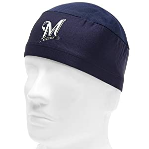 MLB Milwaukee Brewers Authentic Collection Performance Skull Cap, Navy, One Size Fits Most
