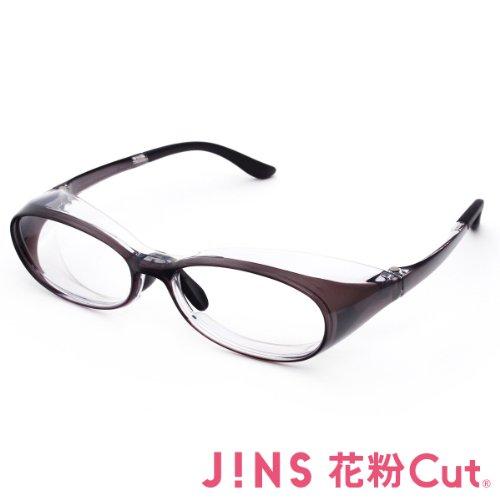 【JINS 花粉Cut(R)】花粉最大98%カット! 異物からスタイリッシュに眼を守るメガネ オーバル(度なし)GRAY