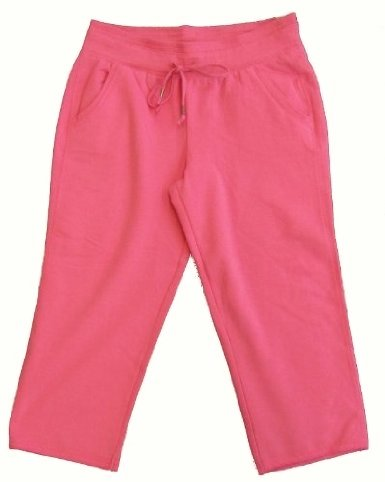 Green Tea Womens Fleece Capri Pants (Hot Pink, Medium)