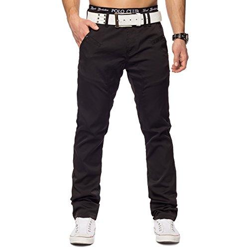 Pantaloni Uomo Brad ID1348 nero lucido slim fit, Farben:nero;Größe-Jeans:W29
