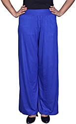 Unicraft Women's Satin Plazo (unicraft-012Blue-Plazo)