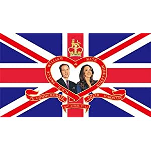 Prince William & Kate Royal Wedding Flag