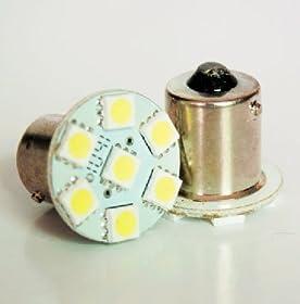Cutequeen LED Car Lights Bulb White 1157 Ba15D 5050 7-SMD STOP BRAKE TAIL LIGHT BULBS 12V -Red