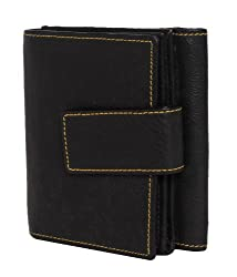 Walletsnbags Womens Wallet (Black)
