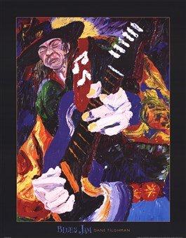 Blues Jam High Quality Museum Wrap Canvas Print Dane Tilghman 22X28