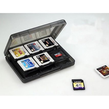 Xinyongjian Alta Qualità Black 24 in 1 Game Memory Card Holder Case Storage Box per Nintendo 3DS #T1932