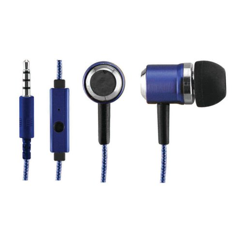 Sentry Industries Inc. Hm372 Micbuds Metal Stereo Ear Buds With Built-In Mic, Blue