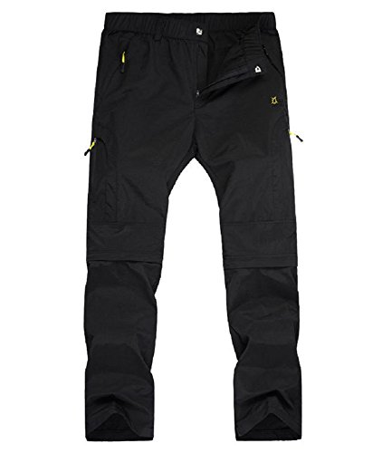 Hanxue Men's Outdoor Fast Dry Convertible Pant