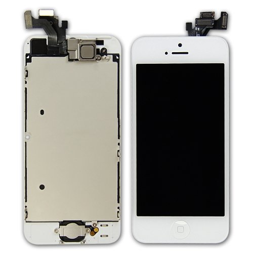 Oem Lcd Digitizer Glass Screen With Small Parts Assembly For Iphone 5 - White