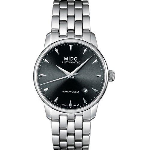 mido-mens-baroncelli-ii-38mm-steel-bracelet-case-automatic-black-dial-analog-watch-m86004181