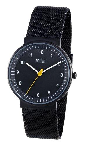 Braun Ladies Quartz 3 Hand Movement Stainless Steel Watch BN0031BKBKMHL With Mesh Bracelet