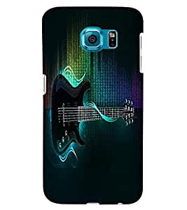 Fuson 3D Printed Music Designer back case cover for Samsung Galaxy S6 - D4547