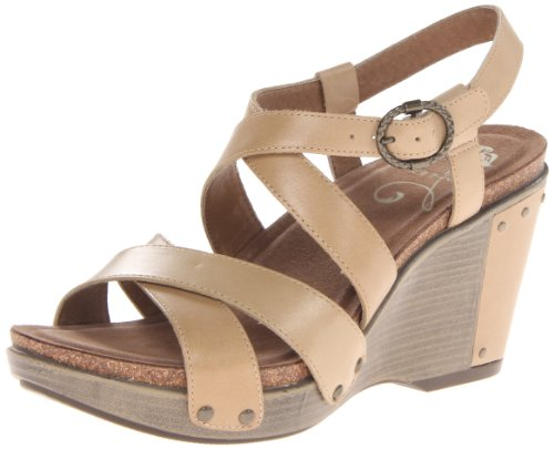 Dansko Women'S Frida Wedge Sandal,Sand Antiq,39 Eu/8.5-9 M Us front-946529