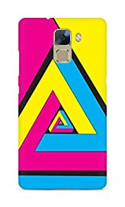 Amez designer printed 3d premium high quality back case cover for Huawei Honor 7 (Abstract Colorful 3)