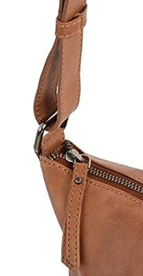 """Gusti Cuir studio """"Zahara"""" sac à main en cuir sac porté épaule en cuir sac à bandoulière en cuir cabas besace en cuir sac de courses en cuir de buffle vintage femmes filles marron clair 2M45-29-1"""