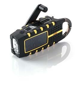 Etón SCORPION Multi-Purpose Solar Powered Digital Weather Radio - Orange (NSP100OR)