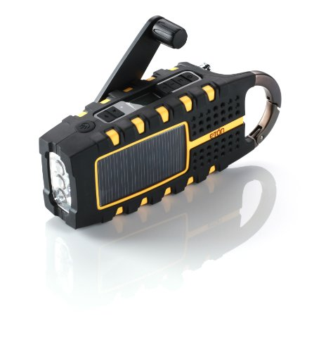 Etón SCORPION NSP100OR Multi-Purpose Solar Powered Digital Weather Radio (Orange)