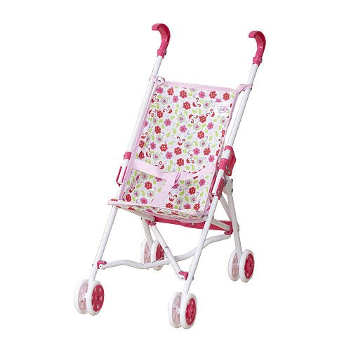 You And Me Umbrella Stroller- White Stroller With Pink Flowers