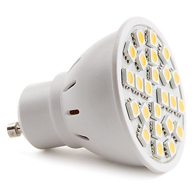 Gu10 5050 Smd 24-Led Warm White 130-150Lm Light Bulb (230V, 3-3.5W)