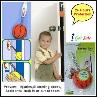 Door Finger Guard. Prevents injuries, slamming doors, accidental lock in or out of rooms