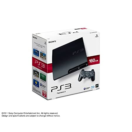 SONY PlayStation3 PS3 Console 160GB | JAPAN MODEL | CECH-3000A Charcoal Black (Japan Import)