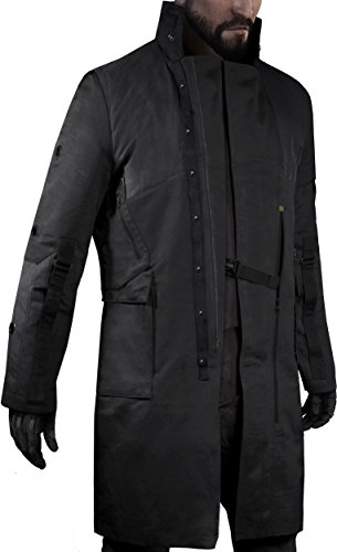 Musterbrand Deus Ex Cappotto Trench Uomo Jensen v4.0 Limited Edition Long Cotton Jacket / Gaming Clothes Nero S
