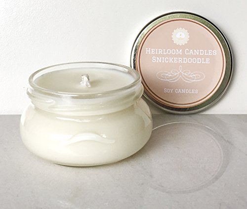 Snickerdoodle Scented Soy Candle - Holiday Cookie Candle, 3.3oz (Oval Cookie Jar compare prices)