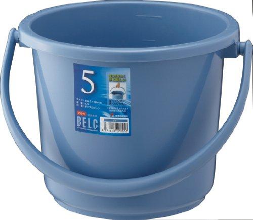 リス ベルク バケツ 本体 ブルー 5L 丸型 5SB