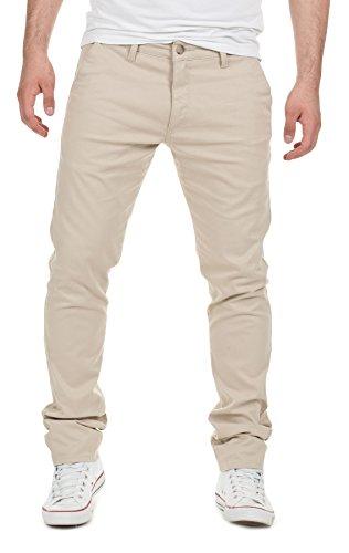 Yazubi Designer Uomo Chino - Kyle - Pantaloni eleganti, beige (1002), W34/L34