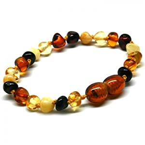 Bouncy Baby Boutique(TM) - B51 Multicolor Baltic Amber Teething Bracelet/Anklet