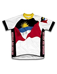 Antigua And Barbuda Flag Short Sleeve Cycling Jersey for Women