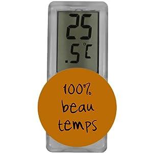 Thermomètre Extérieur Fixation Ventouse Design Fun Orange 41qa4Z5gndL._SL500_AA300_