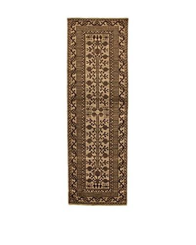 Design By Gemeenschap Loomier tapijt Bamiyan bruin 96 x 300 cm