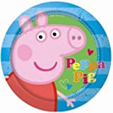 Peppa Pig Blue Party Plates, pack of 8