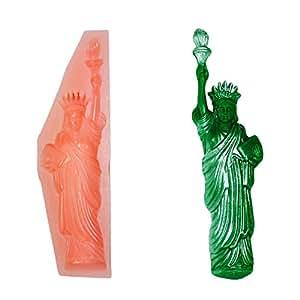 freiheitsstatue statue of liberty new lebensmittelechten silikonform f r kuchen. Black Bedroom Furniture Sets. Home Design Ideas
