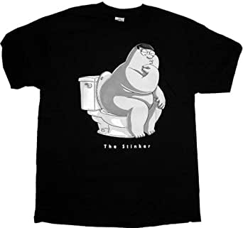 Family guy peter griffin the stinker men 39 s t for Family guy t shirts amazon