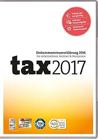 tax 2017 (für Steuerjahr 2016 / Frustfreie Verpackung)