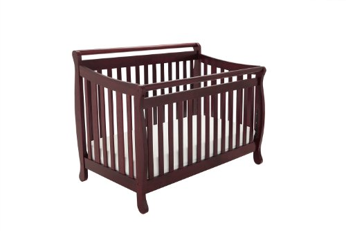 Athena Amy 3 in 1 Crib with Toddler Rail, Cherry